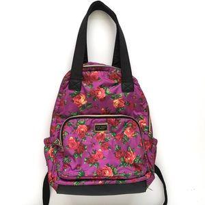 Betsey Johnson Purple Rose Backpack Handbag Floral